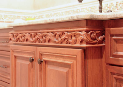 Gorgeous custom carved wood trim