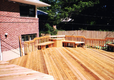 Deck with Custom Railing