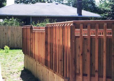 Custom designed bi-level railing