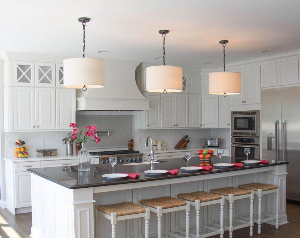 Large Transitional White Kitchen | Evo Design Center