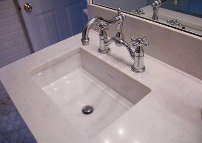 Porcher sink with chrome faucet