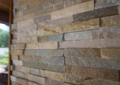 Beautiful stacked stone wall detail