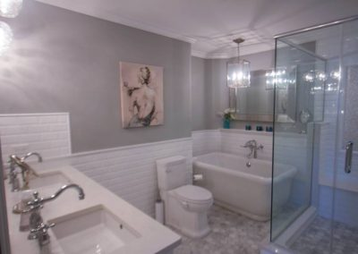 Transitional White Master Bath