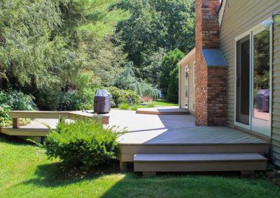 Simple two tier Azek Decking patio area