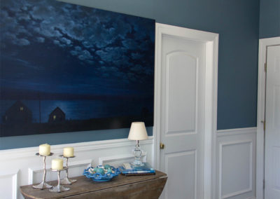Crisp white doors and moldings with blue hues for a fabulous beachy feel
