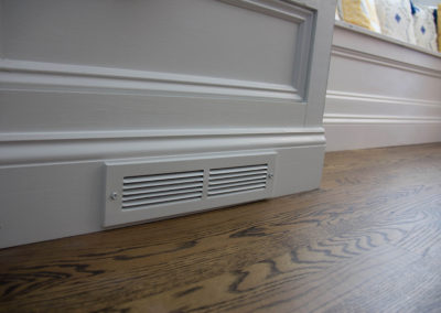 Central air vent built into base of window seating