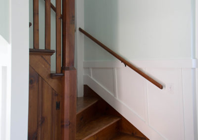 Refinished wood staircase