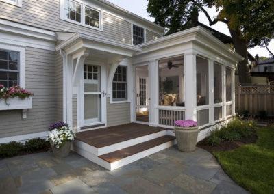 Sunroom with Small Porch Area