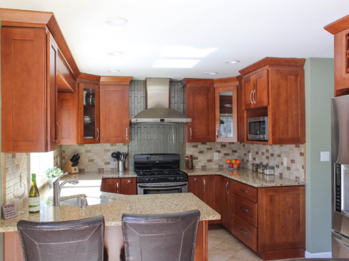 Transitional Cherry Wood Kitchen